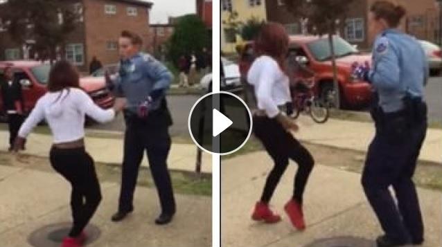 Policjantka uspokoiła bijące się nastolatki – tańcem