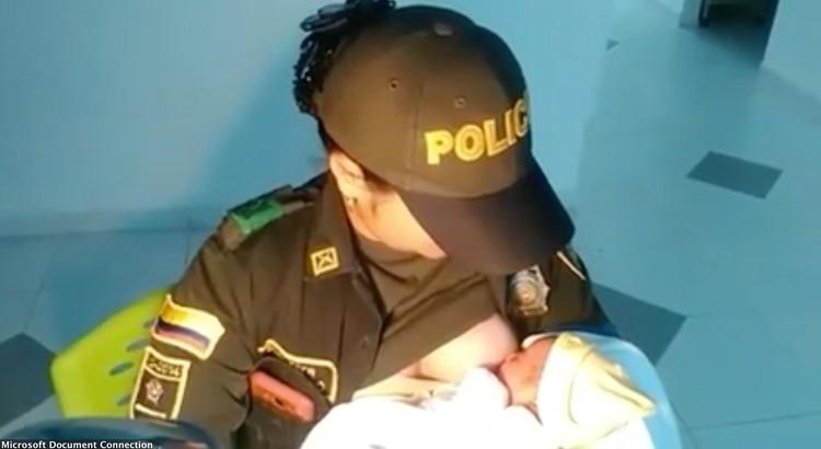 Policjantka uratowała życie porzuconego dziecka, karmiąc je własną piersią