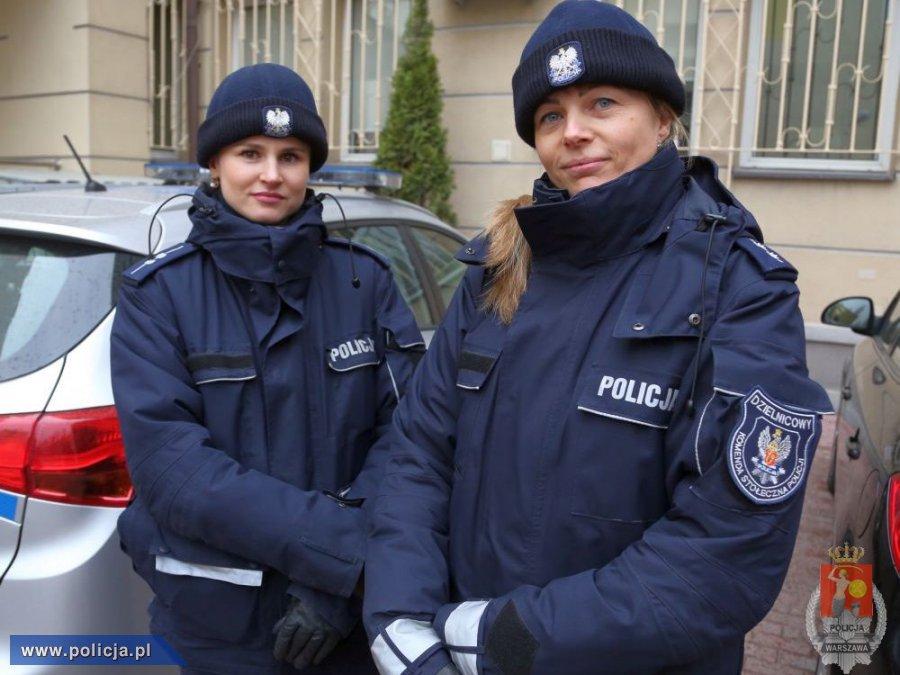 Policjantki z Warszawy ocaliły życie mężczyźnie