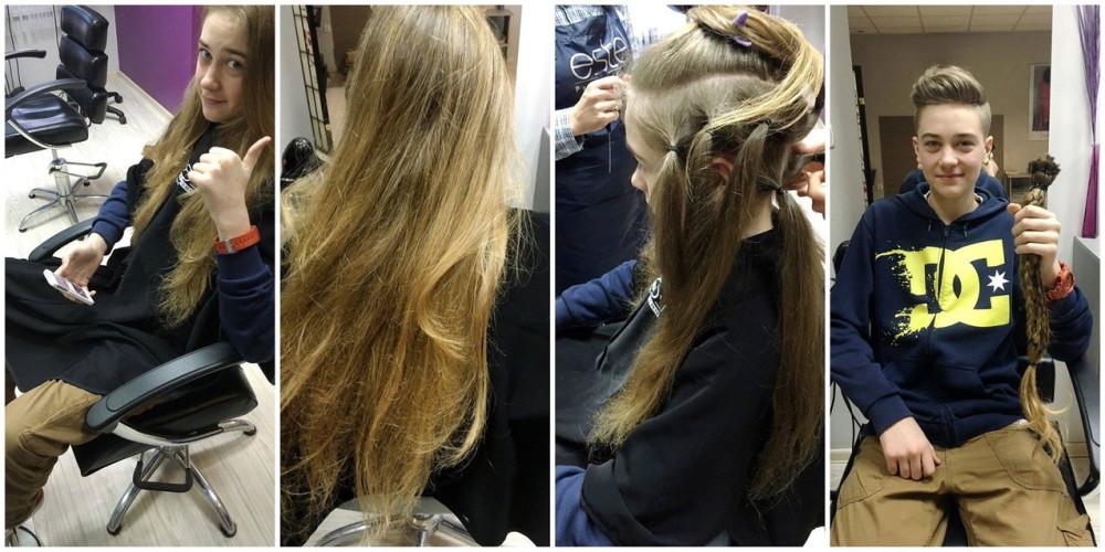 Nastolatek z Krosna zapuszczał włosy przez 5 lat, aby oddać je na peruki dla chorych na raka