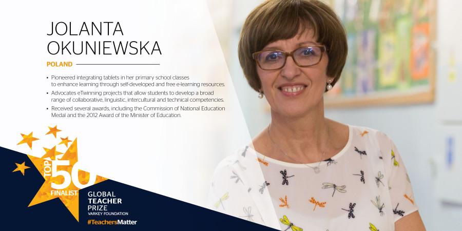 """Polka wśród najlepszych nauczycieli na świecie, została nominowana do nauczycielskiego """"Nobla"""""""