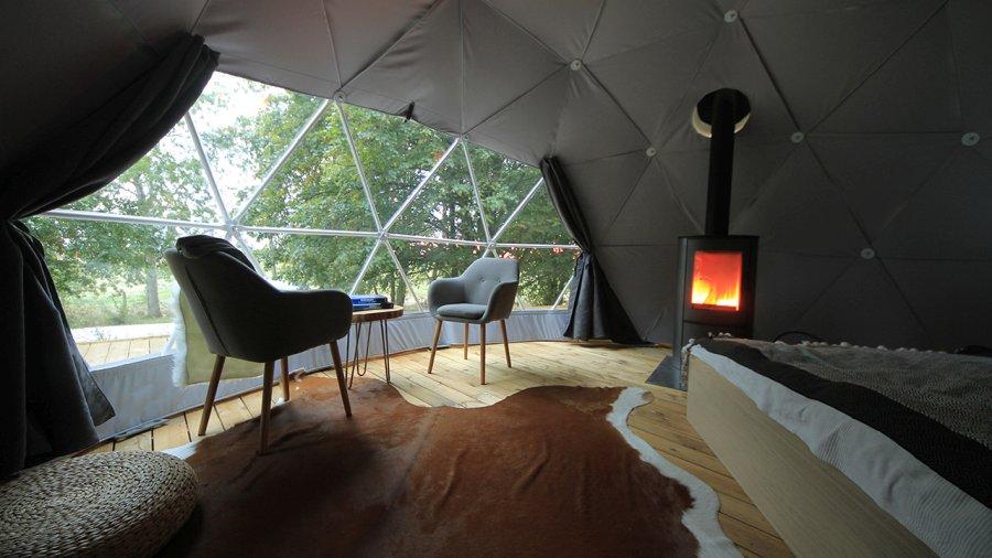 Szczecińska firma tworzy jedyne takie namioty na świecie, można w nich zamieszkać