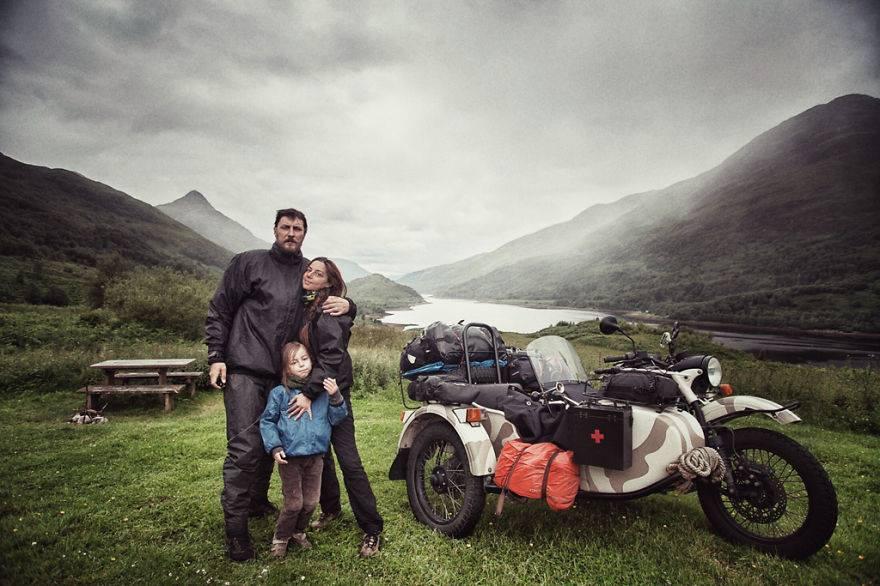 Rodzina, motor i podróż dookoła Europy