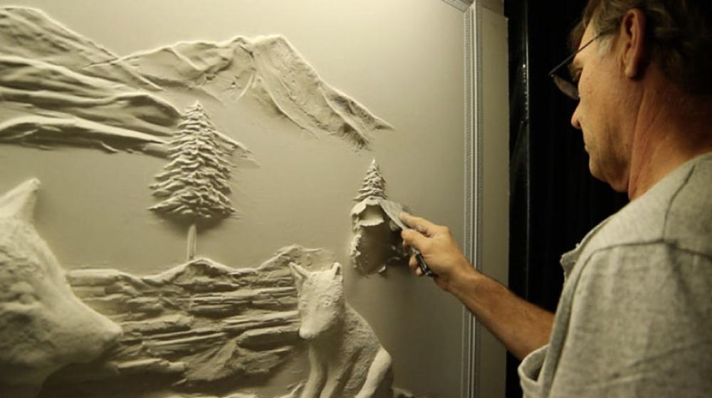 Kanadyjski artysta zamienia puste ściany w dzieła sztuki