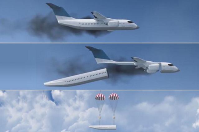 Samolot, który może odłączyć kabinę w nagłych przypadkach