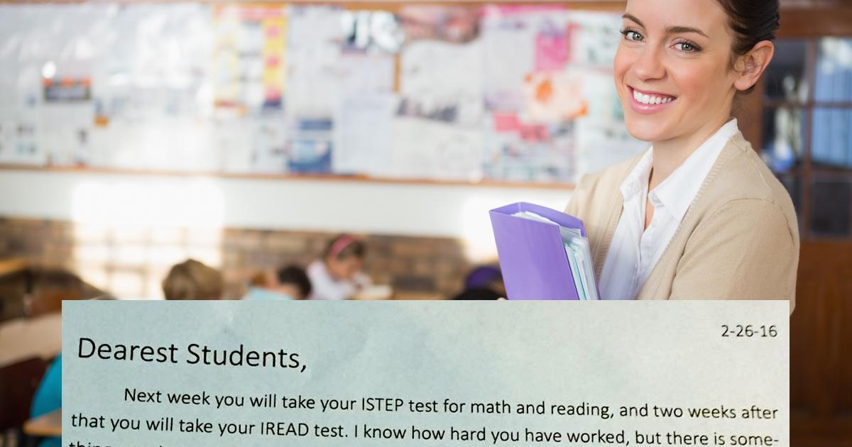 Test to tylko test – niezwykły list nauczycielki do uczniów