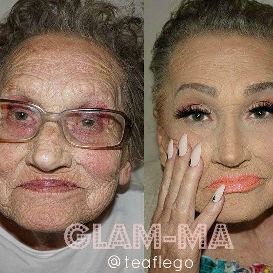 Wnuczka – makijażystka funduje swojej babci niesamowitą metamorfozę
