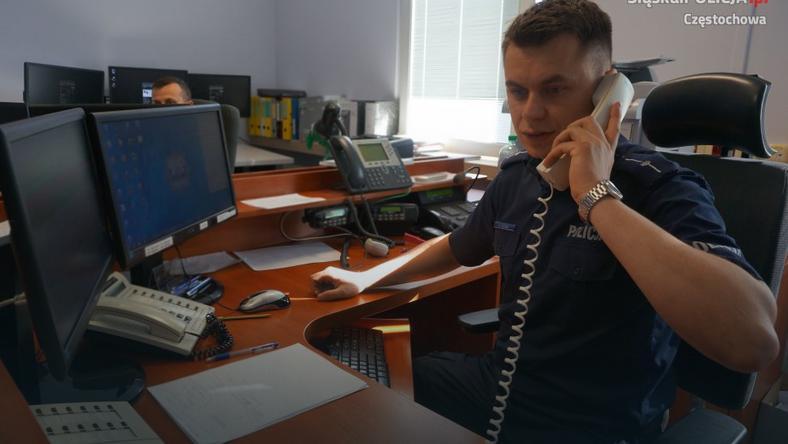 Policjant z Częstochowy przez telefon uratował dziecko