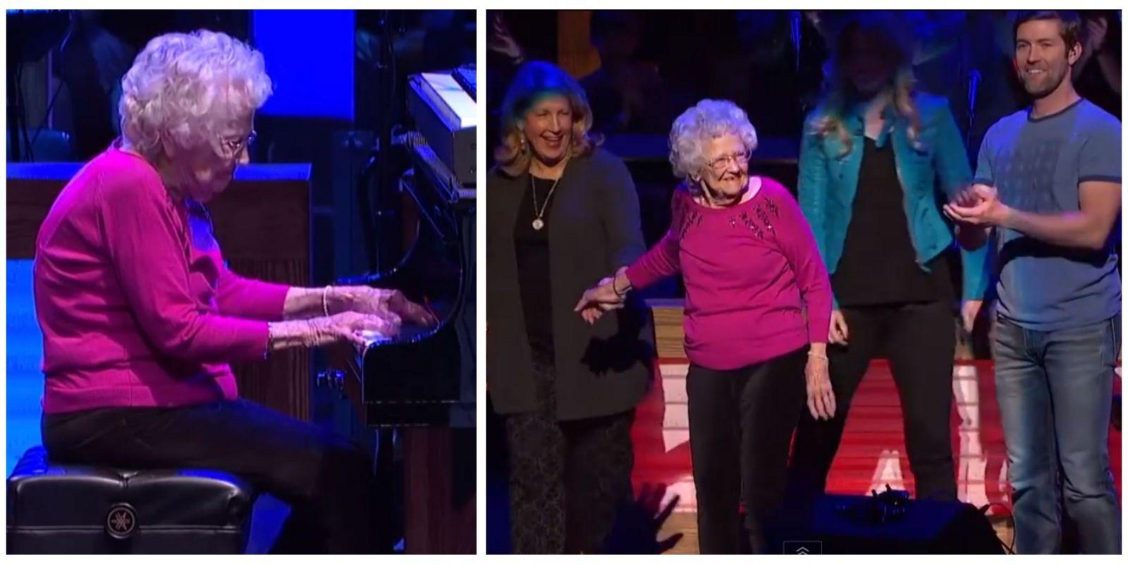 Niezwykłe wystąpienie 98-letniej Lois Cunningham  na koncercie country