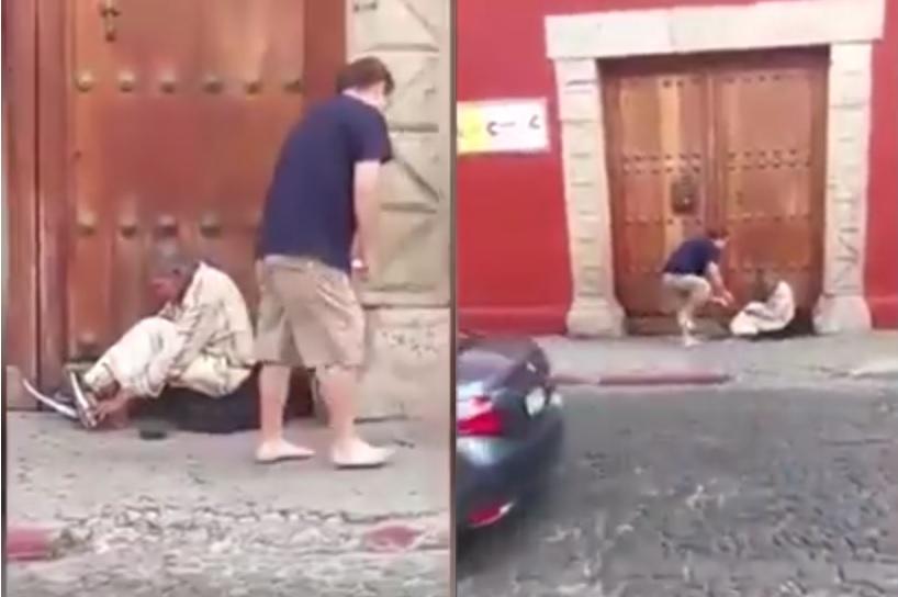 Turysta oddał żebrakowi swoje buty i odszedł boso
