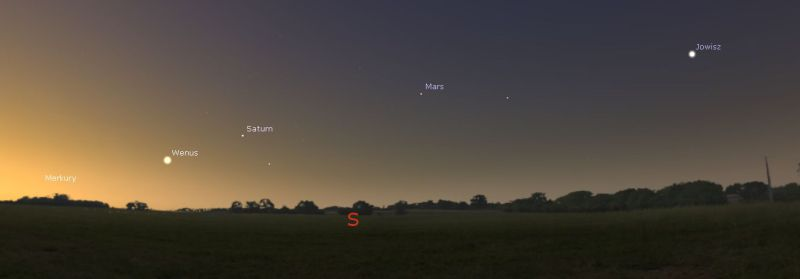20 stycznia Merkury, Wenus, Mars, Jowisz i Saturn ułożą się w linii prostej