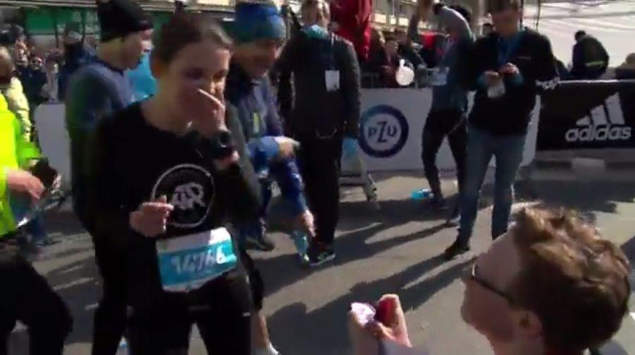 Oświadczył się na mecie Półmaratonu Warszawskiego