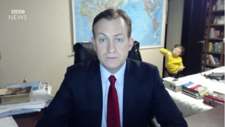 Dzieci przerwały mu wywiad dla BBC, teraz tłumaczy co się stało