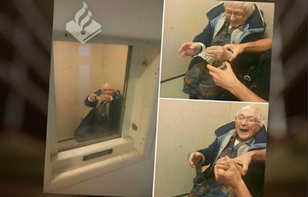 Ta 100-latka miała nietypowe marzenie. Policjanci pomogli je spełnić