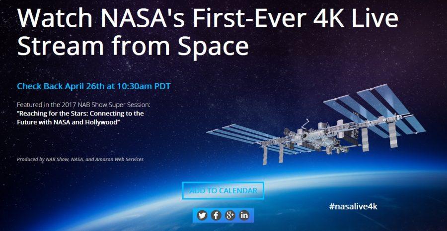 Pierwsza transmisja na żywo z kosmosu w 4K