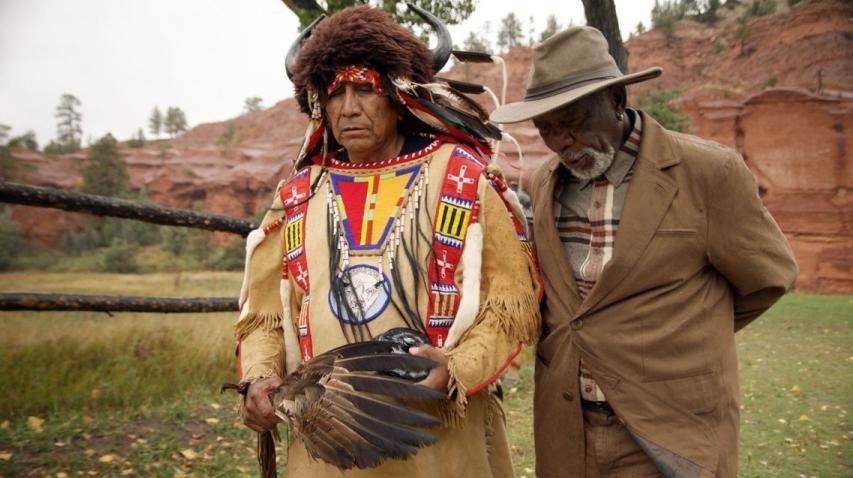 Morgan Freeman w poszukiwaniu Stwórcy – spotkanie z Wodzem Arvol Szukającym Konia