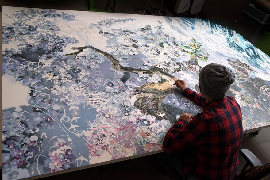 Japoński artysta pracował 10 godzin dziennie przez 3,5 roku aby stworzyć gigantyczny rysunek