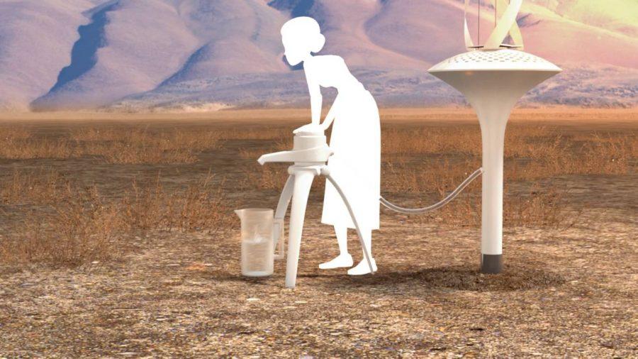 Zasilane wiatrem urządzenie potrafi wyprodukować ponad 40 litrów czystej wody pitnej dziennie z powietrza