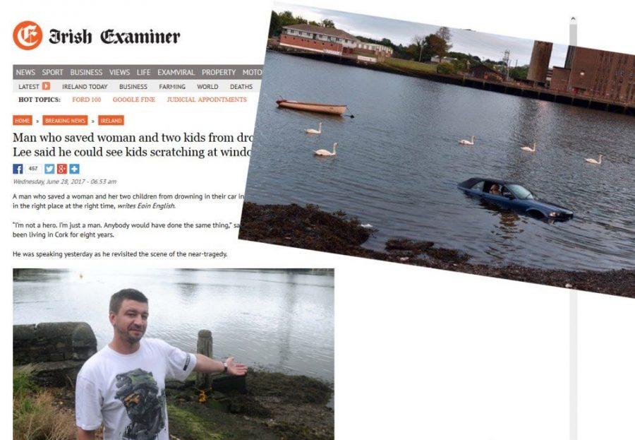 Irlandia: Polak uratował matkę i dzieci z tonącego auta