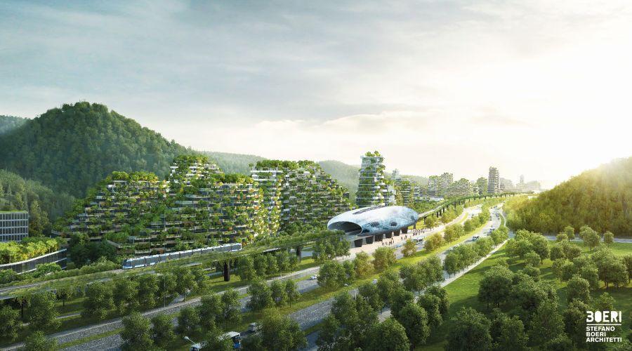 """Ruszyła budowa pierwszego na świecie """"leśnego miasta"""". Projekt opracowany z myślą o walce z zanieczyszczeniami jest realizowany w Liuzhou, chińskiej prowincji Guangxi"""