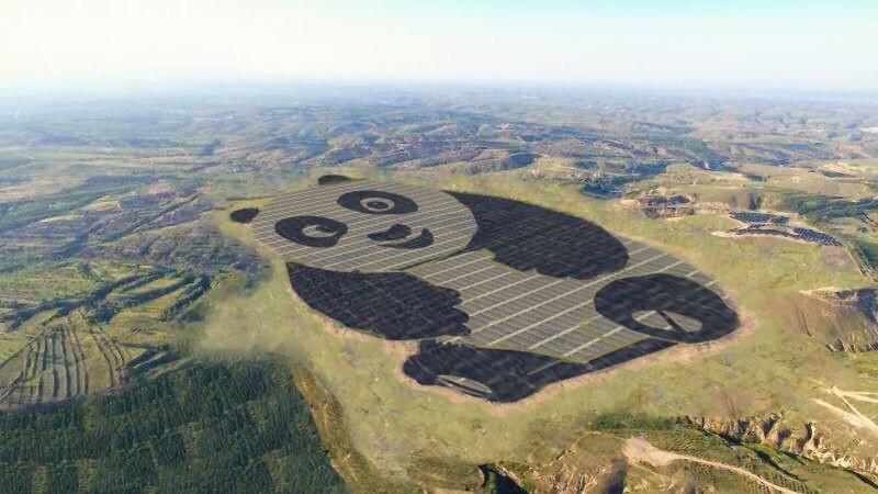 Powstała elektrownia słoneczna w kształcie pandy