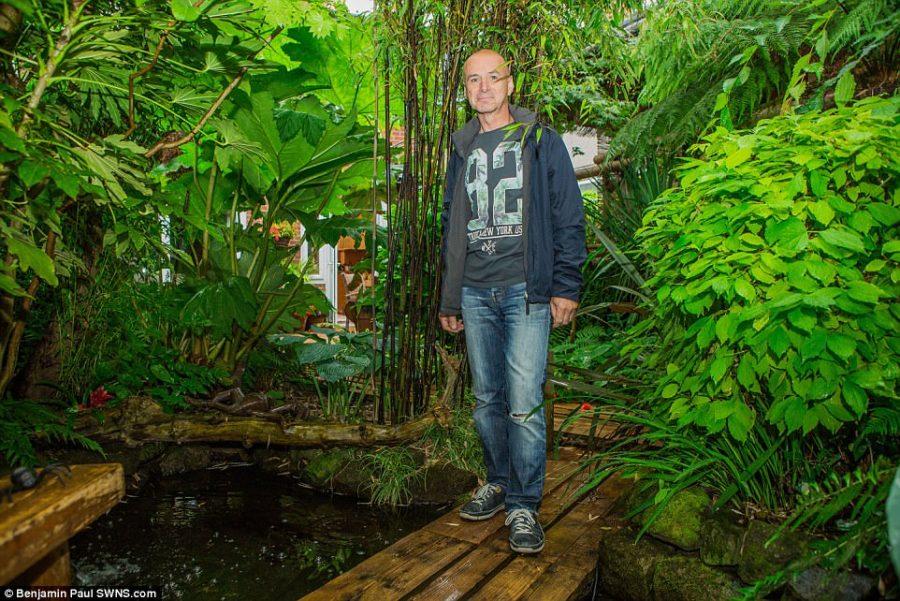 Mężczyzna w ciągu 20 lat wyhodował w swoim ogrodzie tropikalną dżunglę dla swoich wnuków