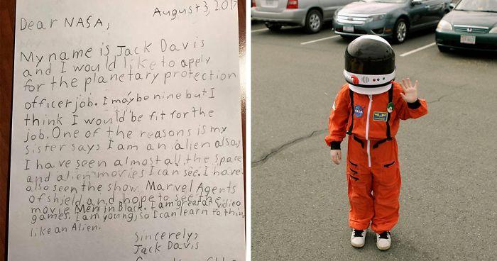 9-latek zgłosił się do pracy w NASA. Zobacz, co odpisała mu agencja