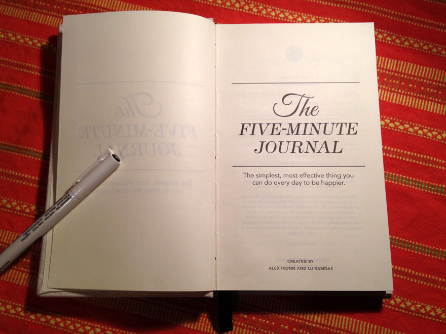 The Five-Minute Journal, czyli pięć minut dziennie dla wdzięczności
