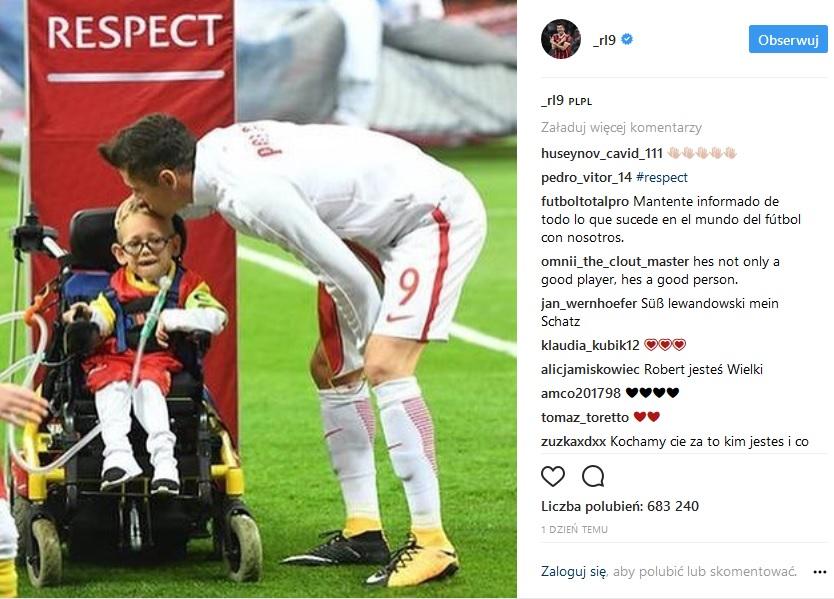 Piękny gest Lewandowskiego, spełnił marzenie niepełnosprawnego Franka