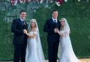 Bracia bliźniacy wzięli ślub z siostrami bliźniaczkami. Teraz zamieszkają w jednym domu