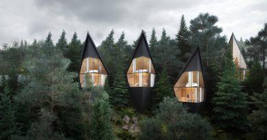 Niezwykłe domki we włoskich Dolomitach