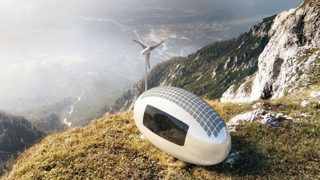 Ecocapsule – mini domki zasilane energią wiatrową i słoneczną
