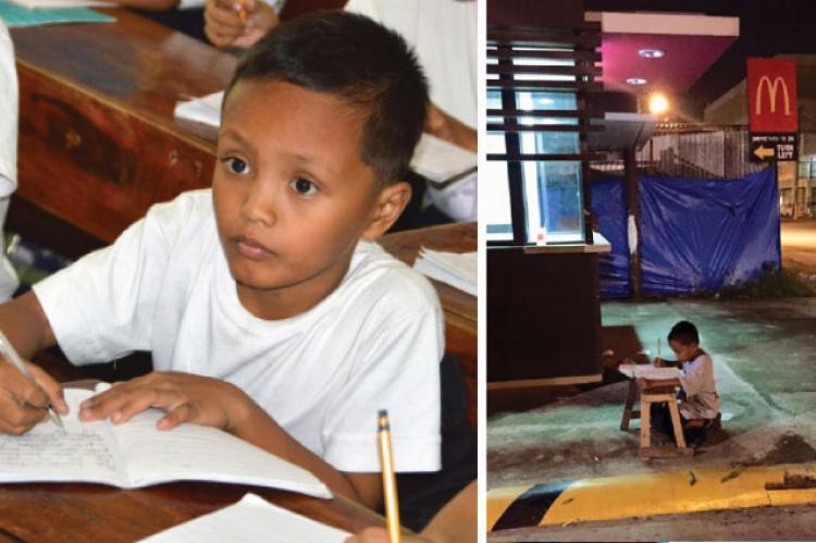 9-letni Daniel, który po zmroku odrabiał lekcje pod McDonaldem właśnie otrzymał pomoc
