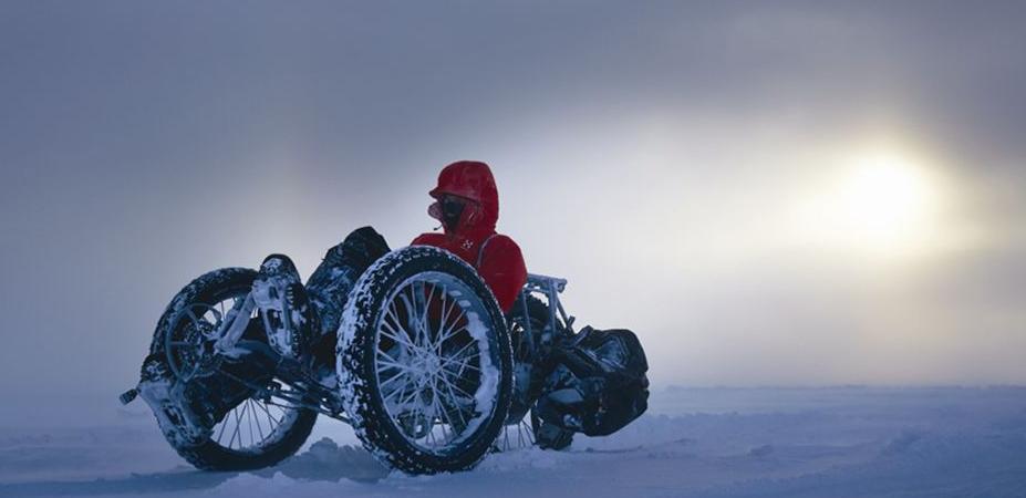 Kobieta zdobyła biegun południowy na rowerze
