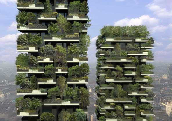 Pierwsze na świecie poziome lasy stworzono w Mediolanie