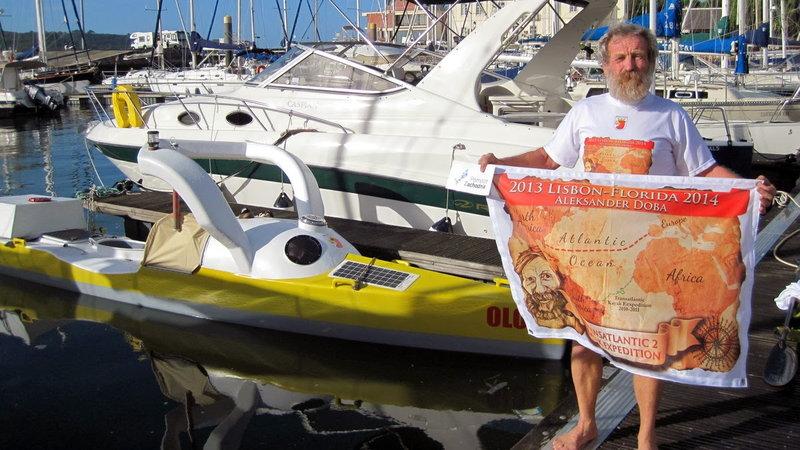 67-letni Aleksander Doba przepłynął kajakiem Atlantyk z Europy do USA