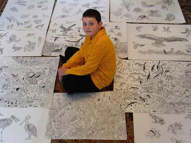 Jedenastoletni chłopiec tworzy niesamowite rysunki, doceniane na całym świecie