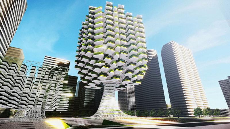 """Urban Skyfarm – ogromna """"wertykalna farma"""" w kształcie drzewa"""
