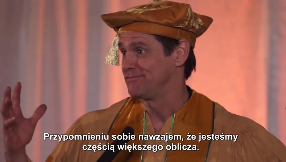 Wspaniała przemowa motywacyjna Jima Carrey'a