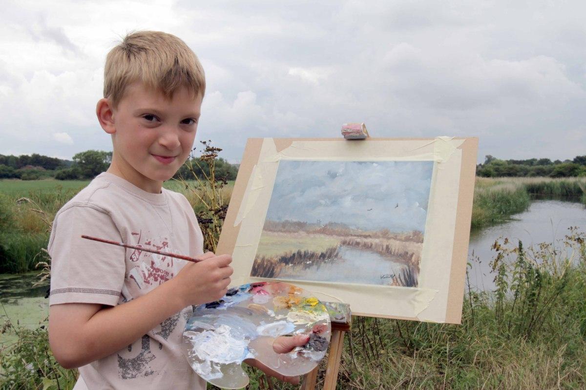 """Genialny 9-latek maluje i zarabia fortunę. """"Młody Monet"""""""