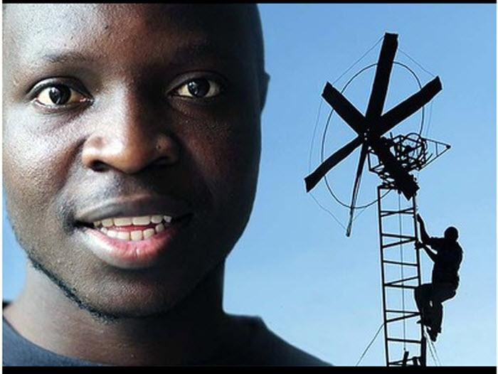 W wieku 14 lat chłopiec z Malawii, gdzie panowało ubóstwo i głód, zbudował ze śmieci wiatrak, aby dostarczać energię do swojego domu.