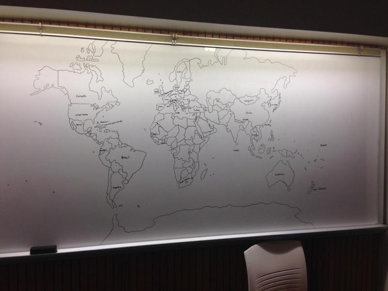 11-latek z autyzmem narysował z pamięci mapę świata