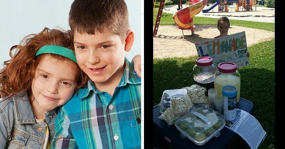 5-latka przez rok sprzedawała lemoniadę. Zebrała tysiące dolarów na leczenie brata